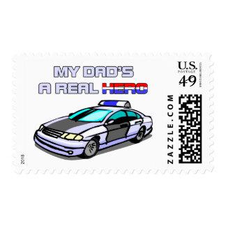 Real Hero Police Postage Stamp