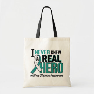 Real Hero Stepmom Cervical Cancer Tote Bag