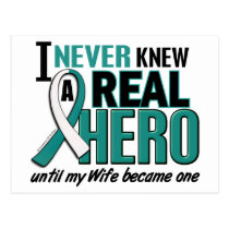 Real Hero Wife Cervical Cancer Postcard