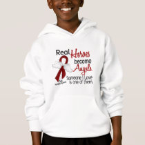Real Heroes Become Angels Multiple Myeloma Hoodie