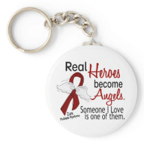 Real Heroes Become Angels Multiple Myeloma Keychain