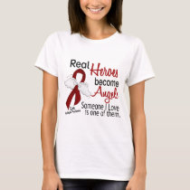 Real Heroes Become Angels Multiple Myeloma T-Shirt