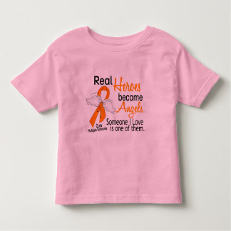 Real Heroes Become Angels Multiple Sclerosis Toddler T-shirt