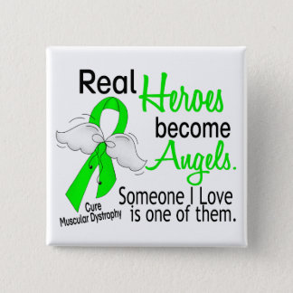 Real Heroes Become Angels Muscular Dystrophy Button