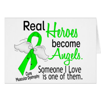 Real Heroes Become Angels Muscular Dystrophy Card