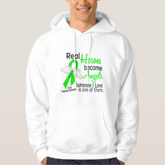 Real Heroes Become Angels Muscular Dystrophy Hooded Pullover