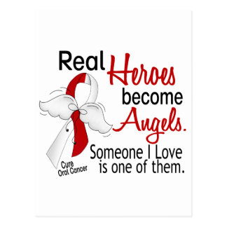 Real Heroes Become Angels Oral Cancer Postcard