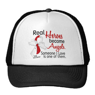 Real Heroes Become Angels Oral Cancer Trucker Hat