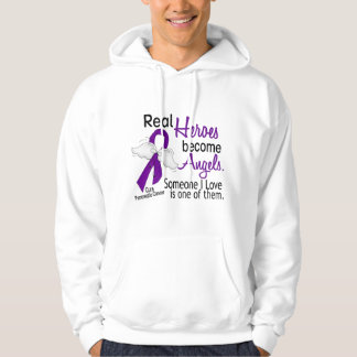 Real Heroes Become Angels Pancreatic Cancer Hoodie