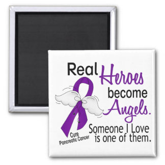 Real Heroes Become Angels Pancreatic Cancer Refrigerator Magnets