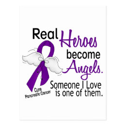 Real Heroes Become Angels Pancreatic Cancer Postcard