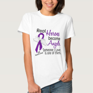 Real Heroes Become Angels Pancreatic Cancer Shirts