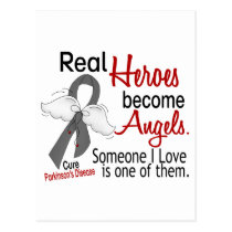 Real Heroes Become Angels Parkinson's Disease Postcard