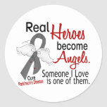 Real Heroes Become Angels Parkinson's Disease Round Sticker