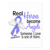 Real Heroes Become Angels Prostate Cancer Postcard