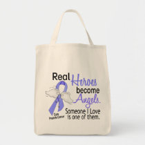 Real Heroes Become Angels Prostate Cancer Tote Bag