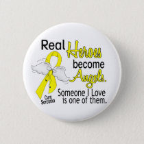 Real Heroes Become Angels Sarcoma Button