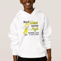 Real Heroes Become Angels Sarcoma Hoodie