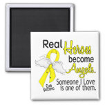 Real Heroes Become Angels Sarcoma Refrigerator Magnets