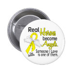 Real Heroes Become Angels Sarcoma Pinback Button
