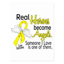 Real Heroes Become Angels Sarcoma Postcard