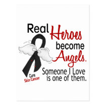 Real Heroes Become Angels Skin Cancer Postcard