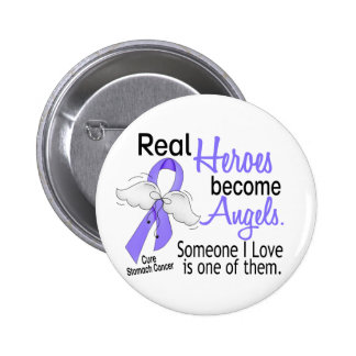 Real Heroes Become Angels Stomach Cancer 2 Inch Round Button