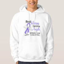Real Heroes Become Angels Stomach Cancer Hoodie