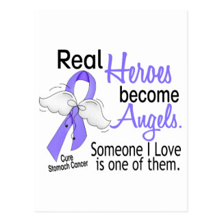 Real Heroes Become Angels Stomach Cancer Postcard