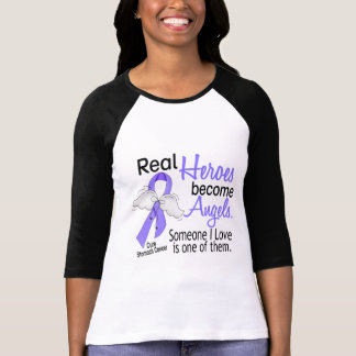 Real Heroes Become Angels Stomach Cancer T-shirts
