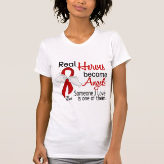 Real Heroes Become Angels Stroke T-Shirt