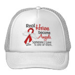 Real Heroes Become Angels Stroke Trucker Hat