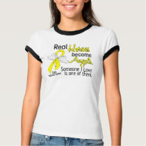 Real Heroes Become Angels Testicular Cancer T-Shirt