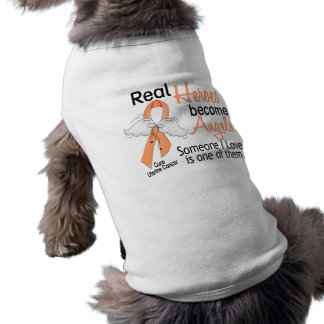 Real Heroes Become Angels Uterine Cancer Pet Clothing