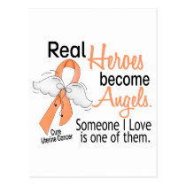 Real Heroes Become Angels Uterine Cancer Postcard
