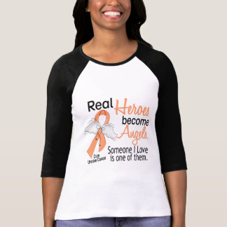 Real Heroes Become Angels Uterine Cancer T Shirts