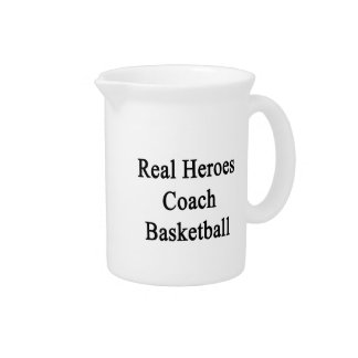 Real Heroes Coach Basketball Beverage Pitcher