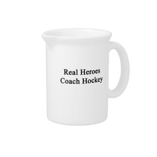 Real Heroes Coach Hockey Drink Pitcher