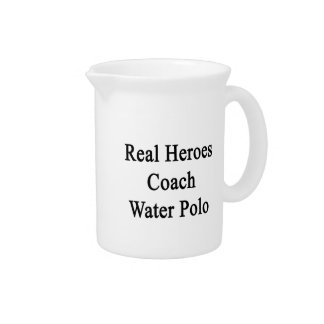 Real Heroes Coach Water Polo Beverage Pitcher