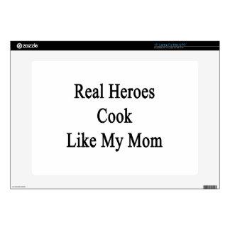 Real Heroes Cook Like My Mom Laptop Skin