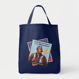 Real Heroes GIFF Vintage Poster Tote (Tuskegee) Grocery Tote Bag