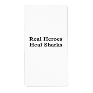 Real Heroes Heal Sharks Personalized Shipping Labels
