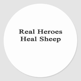 Real Heroes Heal Sheep Round Sticker
