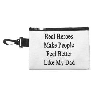 Real Heroes Make People Feel Better Like My Dad Accessories Bag