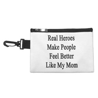 Real Heroes Make People Feel Better Like My Mom Accessory Bags
