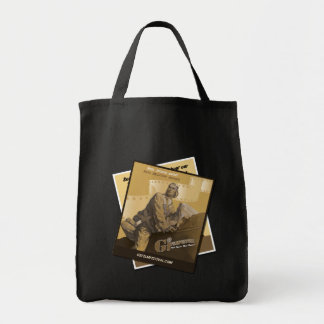 Real Heroes Pilot Vintage Military Poster Tote Grocery Tote Bag