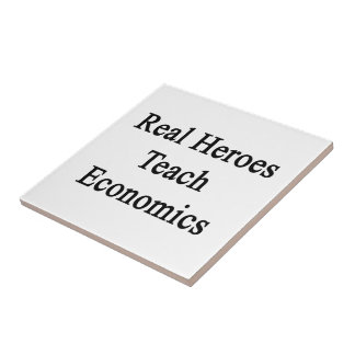 Real Heroes Teach Economics Small Square Tile