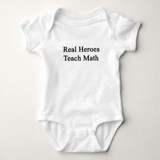 Real Heroes Teach Math Tee Shirts