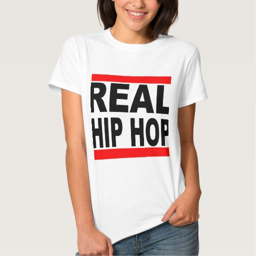 Real Hip Hop White Tee White Background Womens