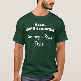 REAL HOPE & CHANGE Romney T Shirts